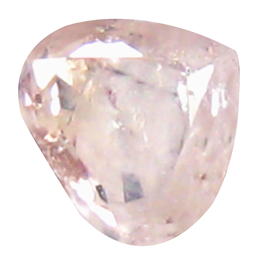 0.09 ct BEST PEAR CUT (3 X 3 MM) CONGO FANCY LIGHT PINK DIAMOND NATURAL GEMSTONE
