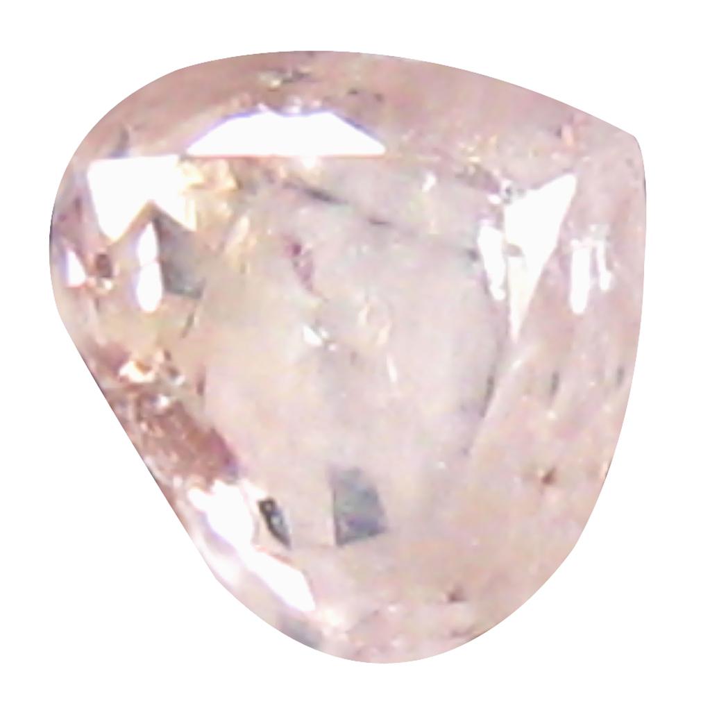 0.09 ct BEST PEAR CUT (3 X 3 MM) CONGO FANCY LIGHT PINK DIAMOND NATURAL GEMSTONE