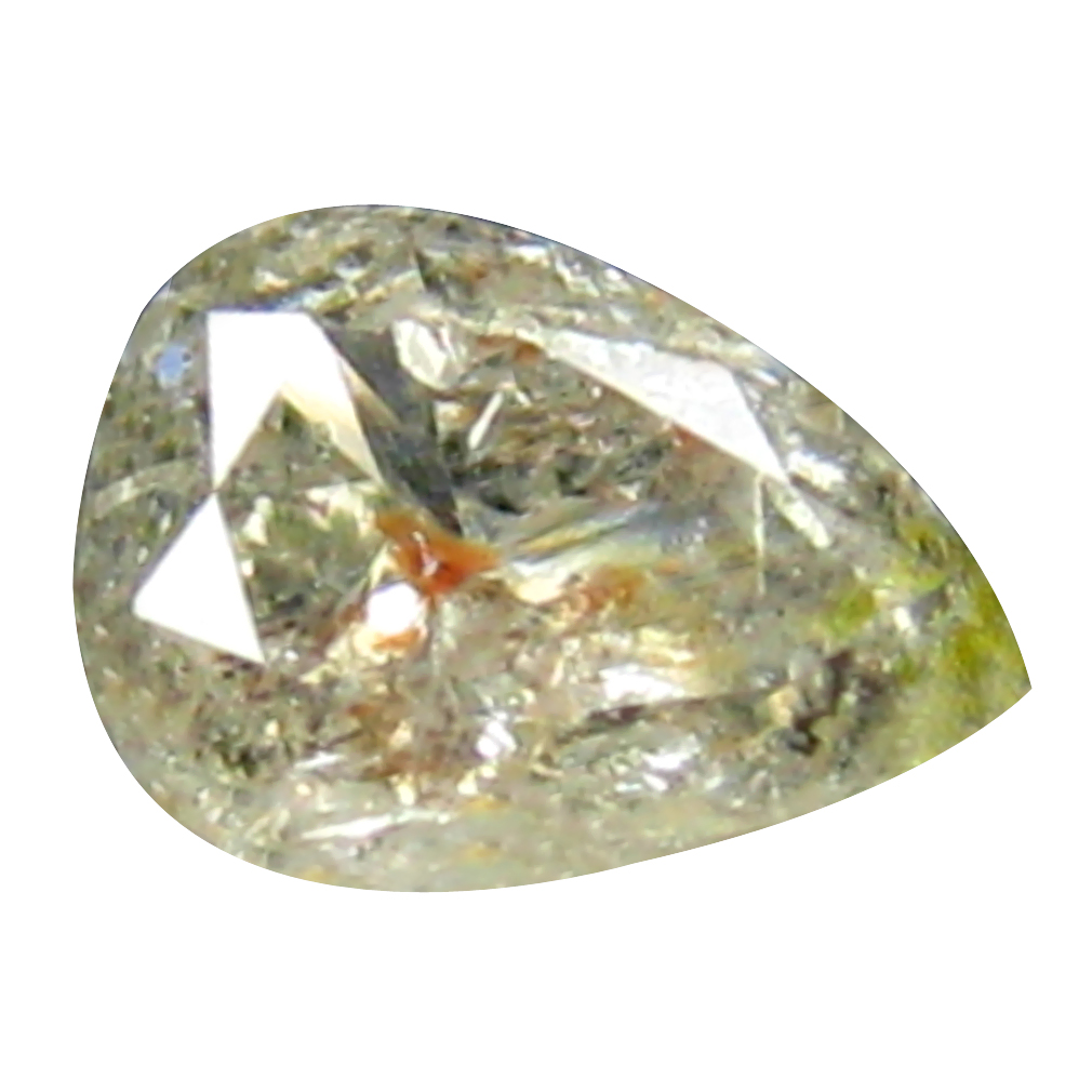 0.26 ct EXTRAORDINARY PEAR CUT (5 X 3 MM) CONGO FANCY BROWNISH PINK DIAMOND NATURAL GEMSTONE