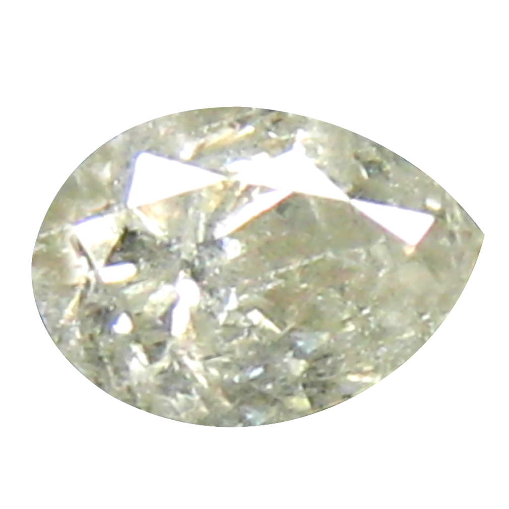 0.18 ct OUTSTANDING PEAR CUT (4 X 3 MM) CONGO COLORLESS DIAMOND NATURAL GEMSTONE