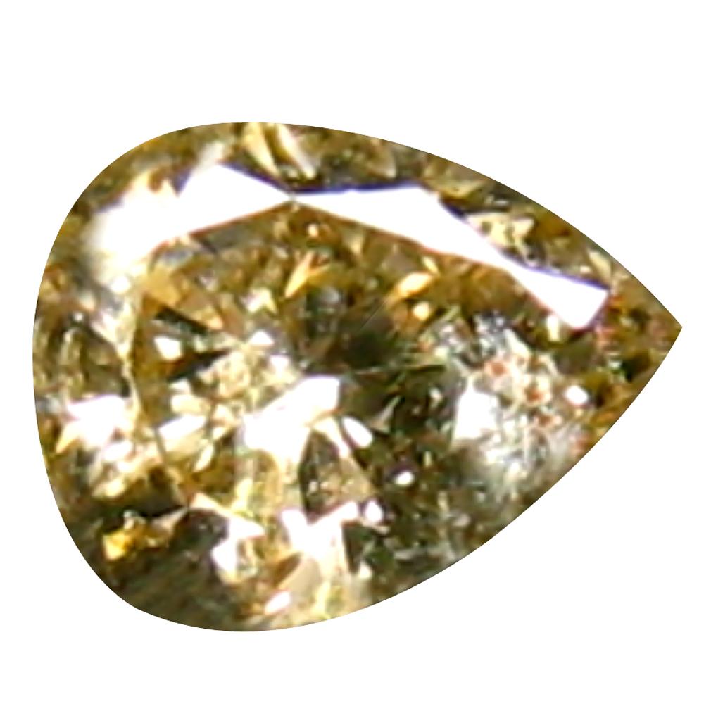 0.09 ct EYE-CATCHING PEAR CUT (3 X 3 MM) CONGO FANCY BROWN DIAMOND NATURAL GEMSTONE