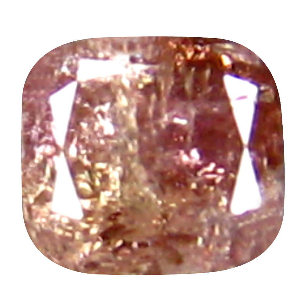 0.20 ct AMAZING CUSHION CUT (3 X 3 MM) CONGO FANCY PINK DIAMOND NATURAL GEMSTONE