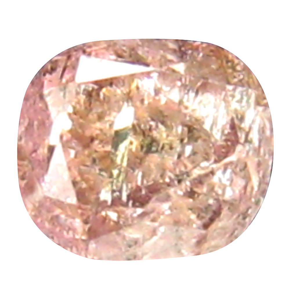 0.16 ct GORGEOUS CUSHION CUT (3 X 3 MM) CONGO FANCY PINK DIAMOND NATURAL GEMSTONE