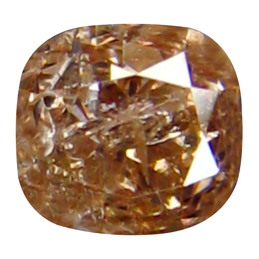 0.24 ct MAGNIFICENT FIRE CUSHION CUT (3 X 3 MM) CONGO FANCY PINK DIAMOND NATURAL GEMSTONE