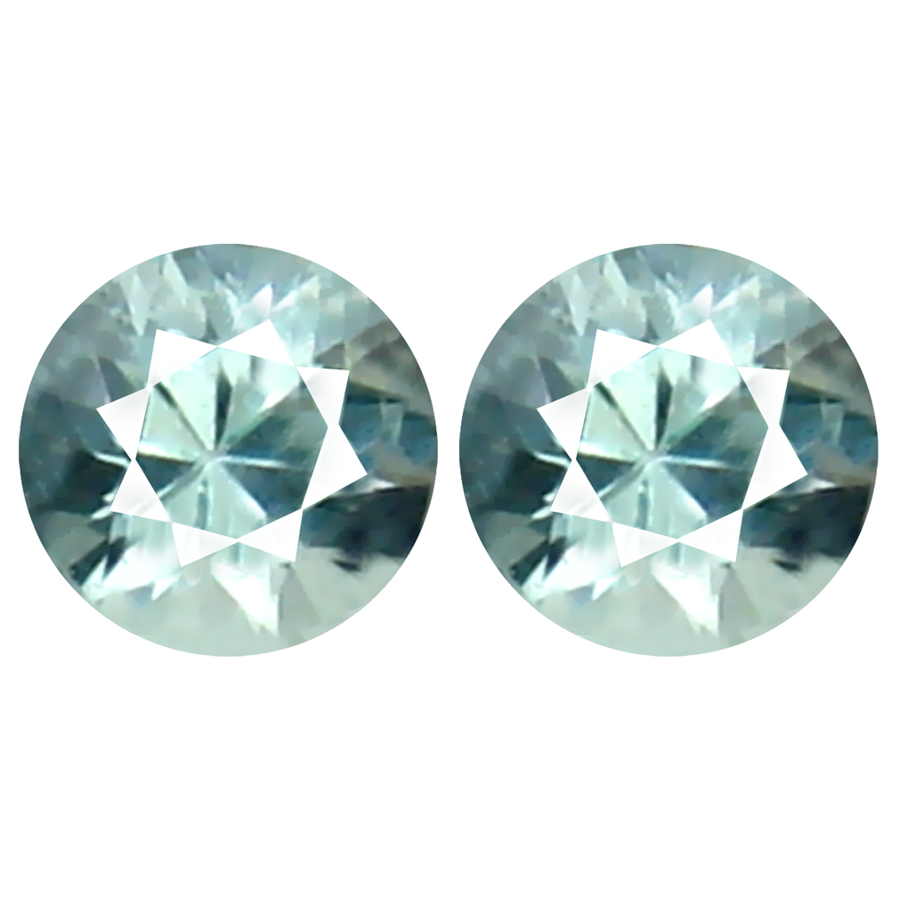 0.23 ct (2pcs) Sparkling MATCHING PAIR 3 mm Round cut Un-Heated Paraiba Tourmaline Natural Gemstone