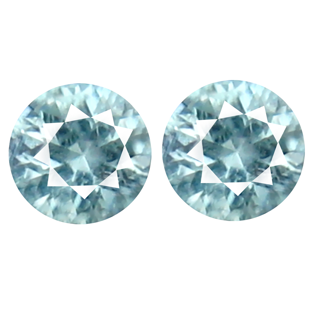 0.25 ct (2pcs) Fabulous MATCHING PAIR 3 mm Round cut Un-Heated Paraiba Tourmaline Natural Gemstone