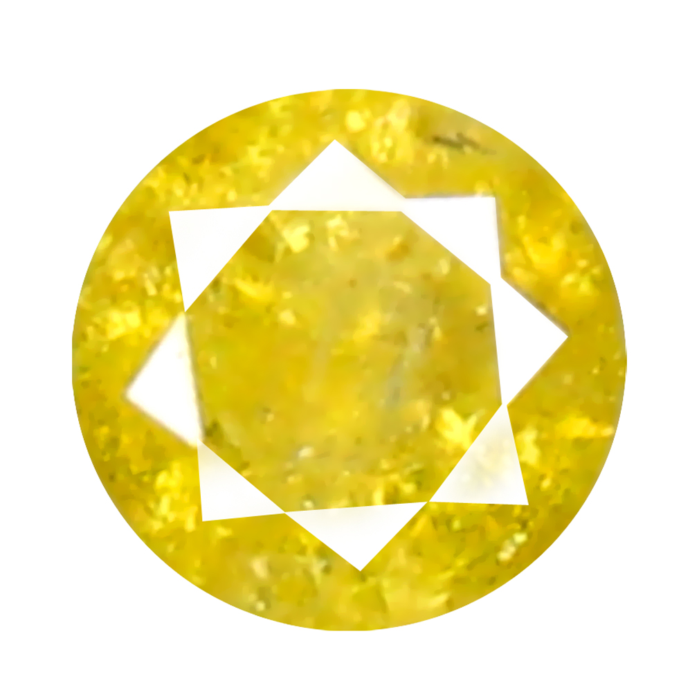 0.11 ct Gorgeous Round Cut (3 x 3 mm) 100% Natural (Un-Heated) Fancy Yellow Diamond Natural Gemstone