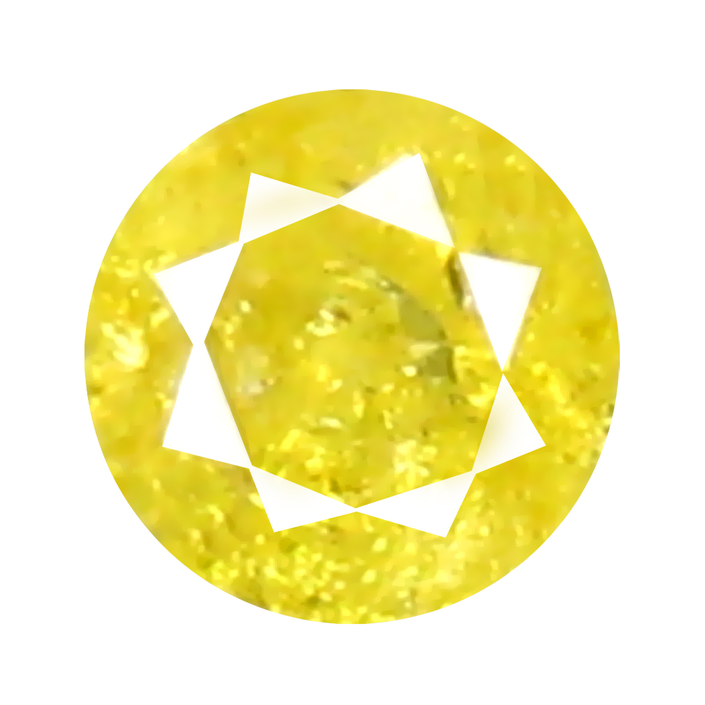 0.13 ct Superb Round Cut (3 x 3 mm) 100% Natural (Un-Heated) Fancy Yellow Diamond Natural Gemstone