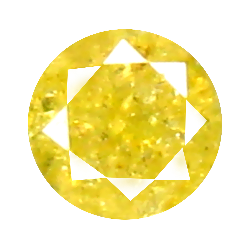 0.11 ct World class Round Cut (3 x 3 mm) 100% Natural (Un-Heated) Fancy Yellow Diamond Natural Gemstone