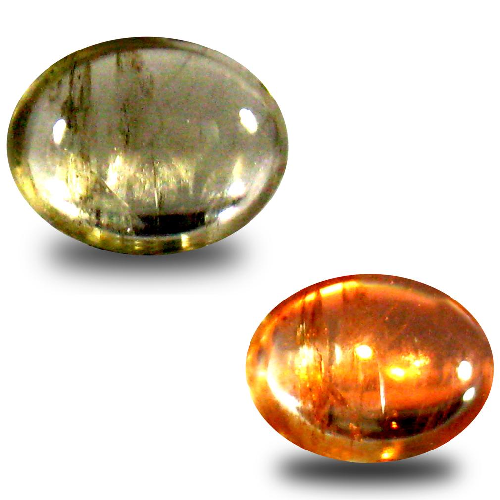 1.59 ct Premium Oval Cabochon Shape (9 x 7 mm) Un-Heated Color Change Diaspore Natural Gemstone