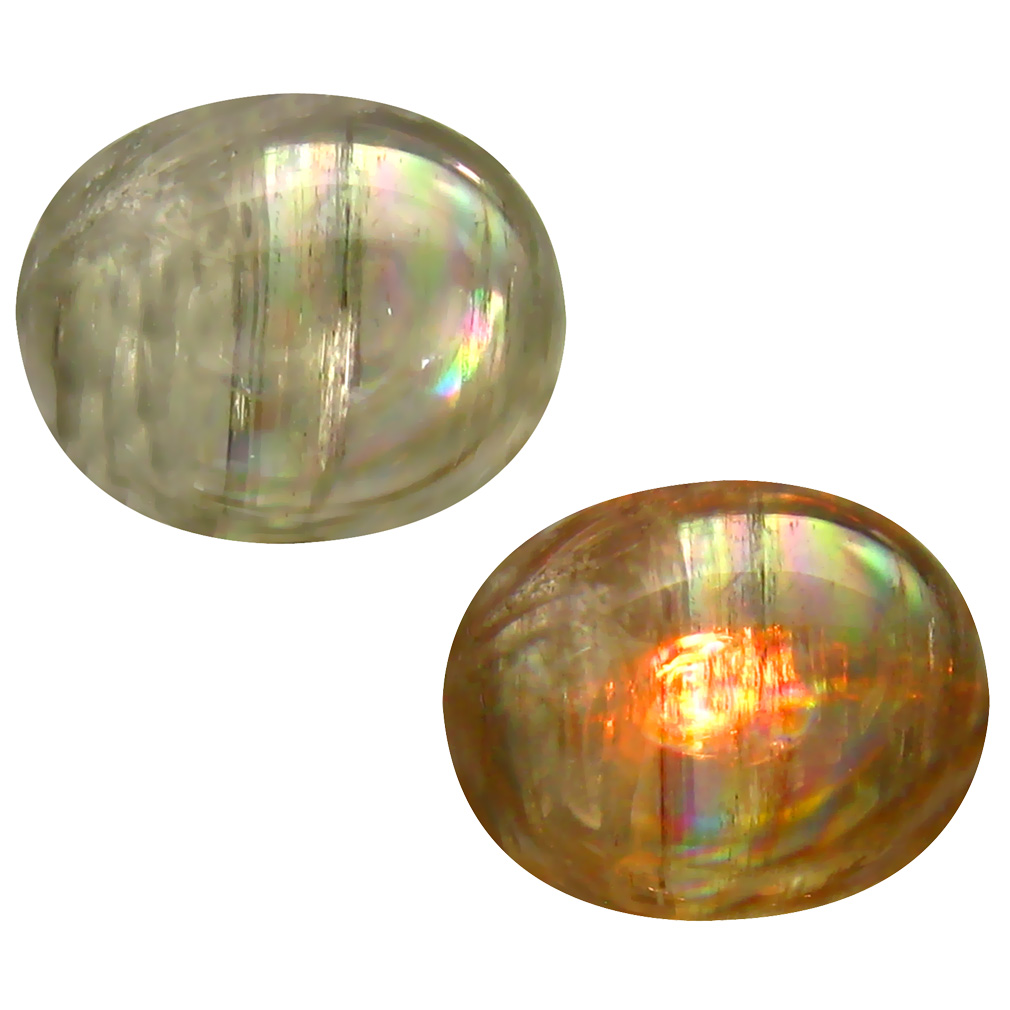 5.37 ct Awe-inspiring Oval Cabochon Shape (12 x 10 mm) Un-Heated Color Change Diaspore Natural Gemstone