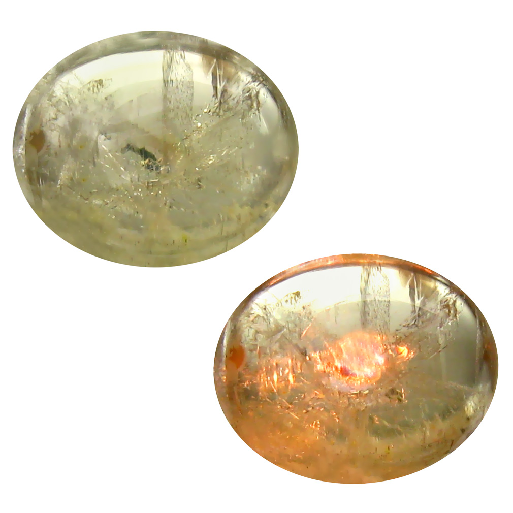 4.69 ct Stunning Oval Cabochon Shape (12 x 10 mm) Un-Heated Color Change Diaspore Natural Gemstone