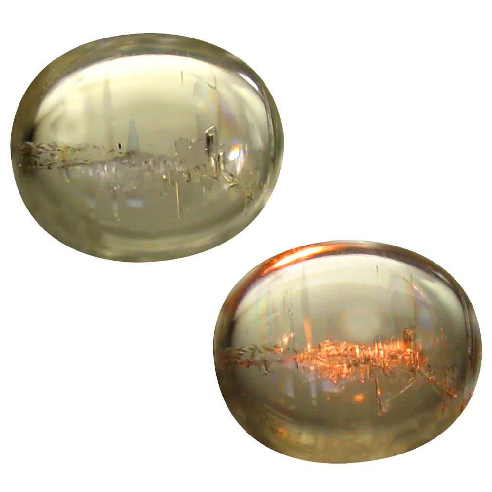 5.12 ct Flashing Oval Cabochon Shape (12 x 10 mm) Un-Heated Color Change Diaspore Natural Gemstone