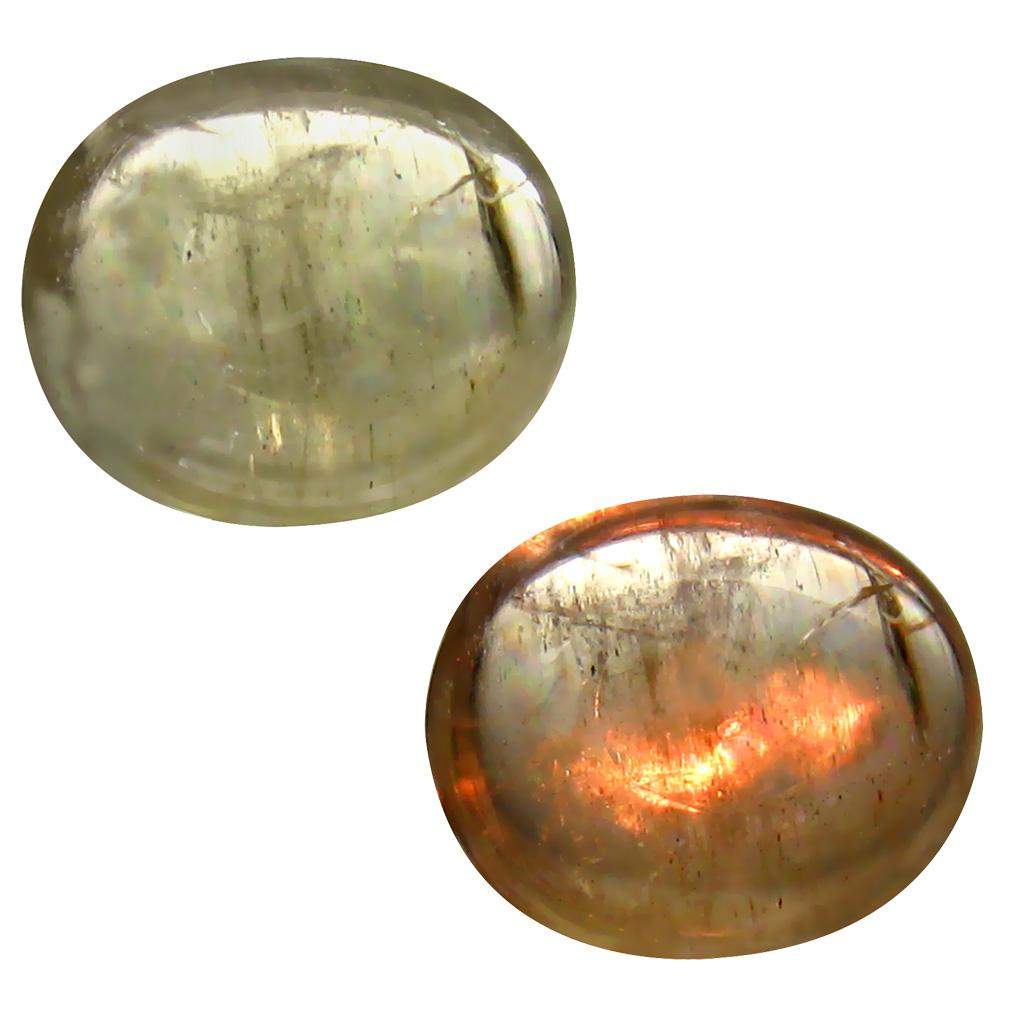 4.82 ct Tremendous Oval Cabochon Shape (12 x 10 mm) Un-Heated Color Change Diaspore Natural Gemstone