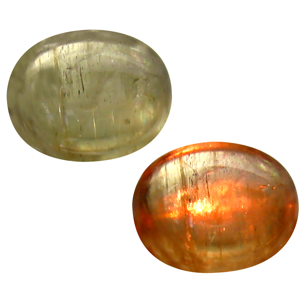 4.08 ct Grand looking Oval Cabochon Shape (11 x 9 mm) Un-Heated Color Change Diaspore Natural Gemstone