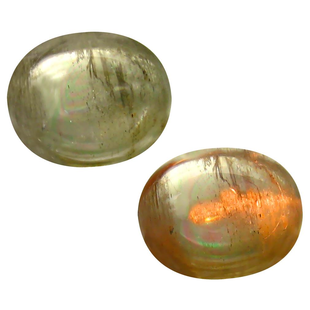 3.38 ct Gorgeous Oval Cabochon Shape (11 x 9 mm) Un-Heated Color Change Diaspore Natural Gemstone