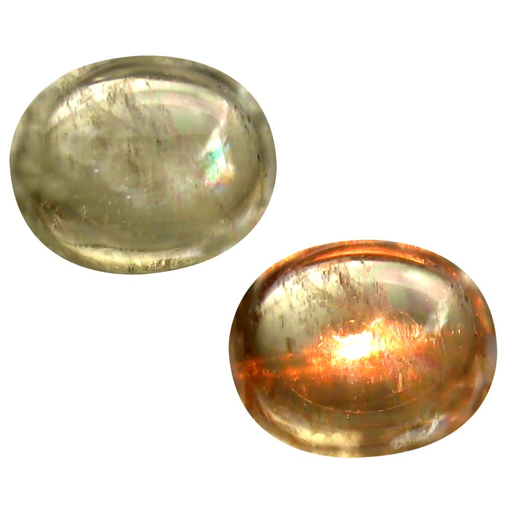5.12 ct Charming Oval Cabochon Shape (11 x 9 mm) Un-Heated Color Change Diaspore Natural Gemstone