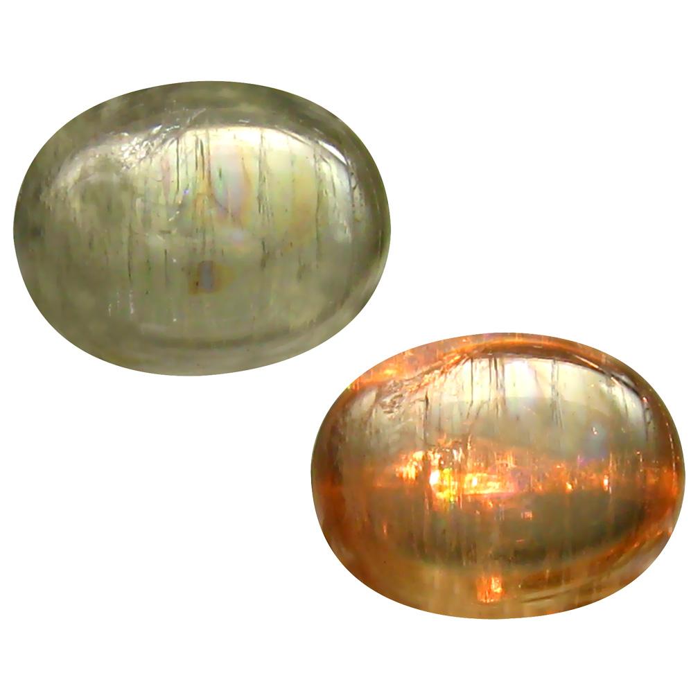 2.85 ct Pleasant Oval Cabochon Shape (10 x 8 mm) Un-Heated Color Change Diaspore Natural Gemstone