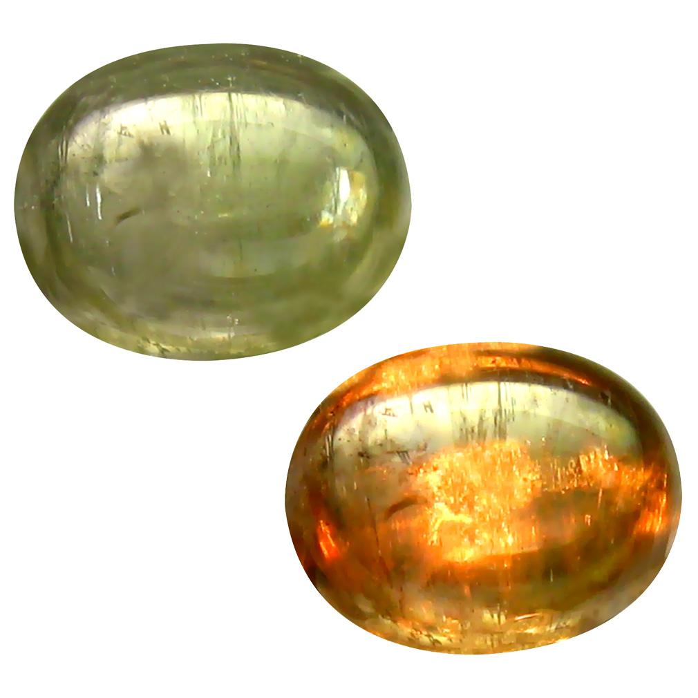 3.40 ct Resplendent Oval Cabochon Shape (10 x 8 mm) Un-Heated Color Change Diaspore Natural Gemstone