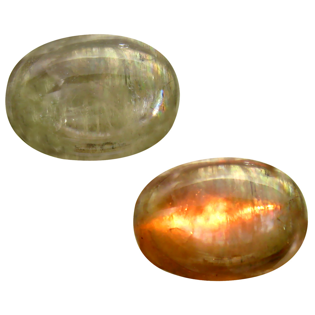 13.70 ct  Incomparable Oval Cabochon Shape (18 x 13 mm) Olive Green Diaspore Cats Eye Natural Gemstone