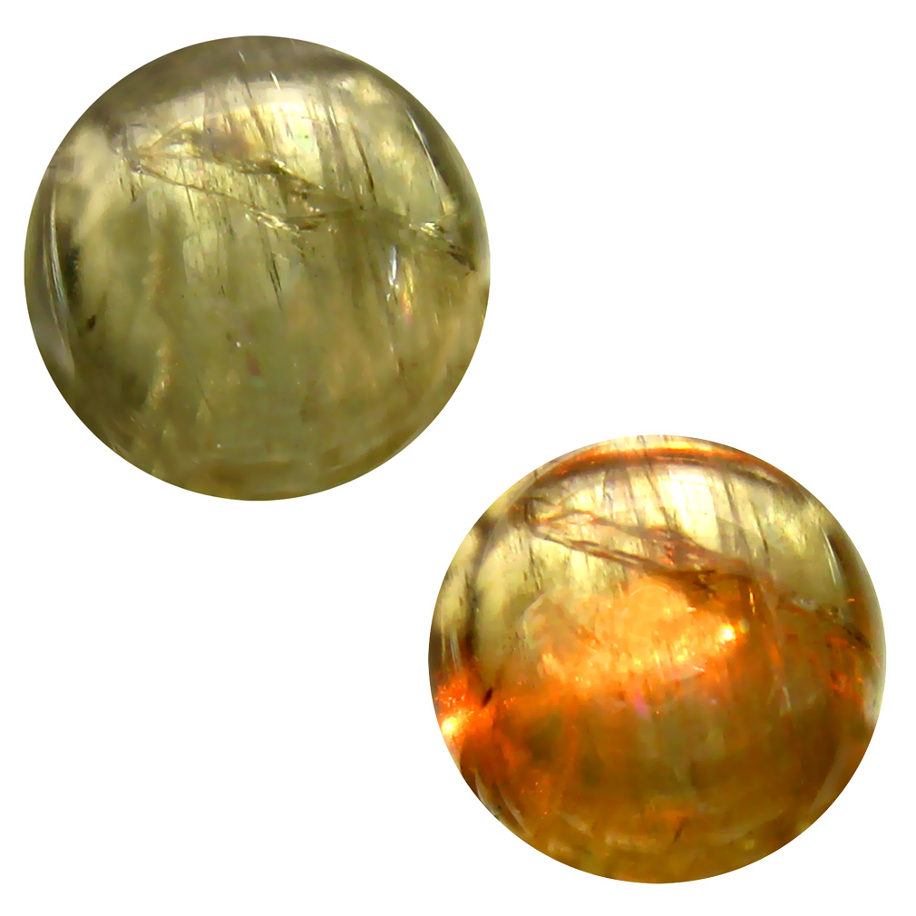 7.75 ct  Stunning Round Cabochon Shape (12 x 12 mm) Olive Green Diaspore Cats Eye Natural Gemstone