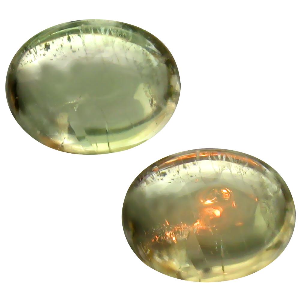 4.28 ct Magnificent fire Oval Cabochon Shape (11 x 9 mm) Un-Heated Color Change Diaspore Natural Gemstone