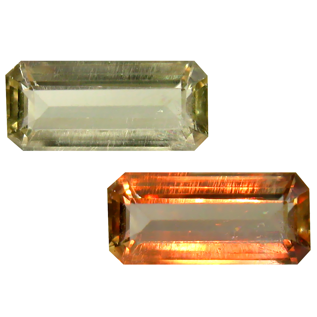 2.79 ct Octagon Cut (13 x 6 mm) Turkish Color Change Diaspore Natural Loose Gemstone