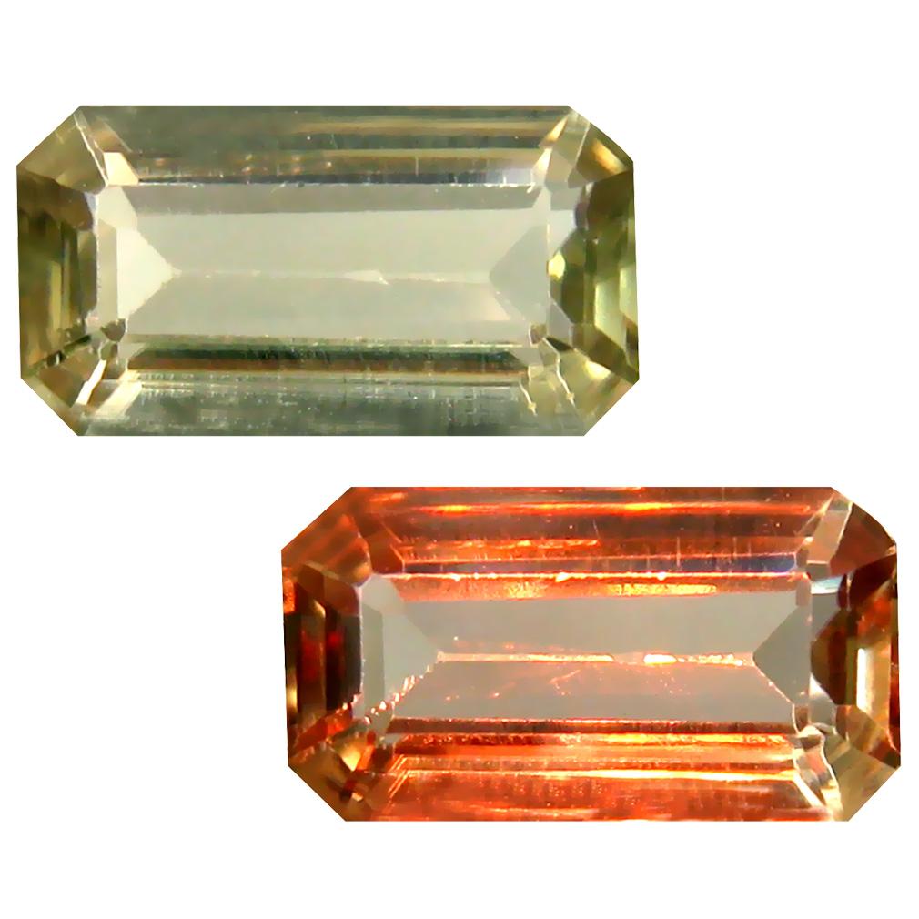 1.90 ct Octagon Cut (10 x 5 mm) Turkish Color Change Diaspore Natural Loose Gemstone