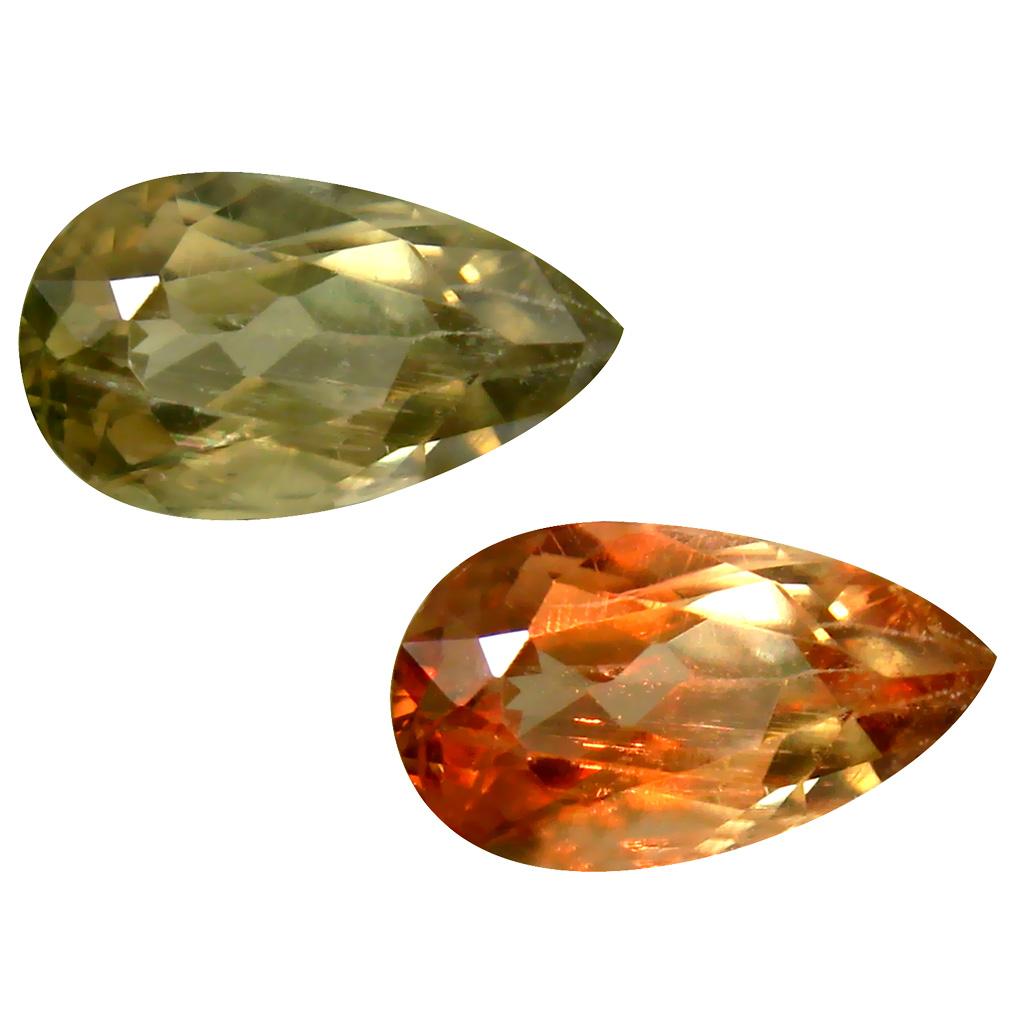 2.22 ct Pear Cut (11 x 6 mm) Turkish Color Change Diaspore Natural Loose Gemstone