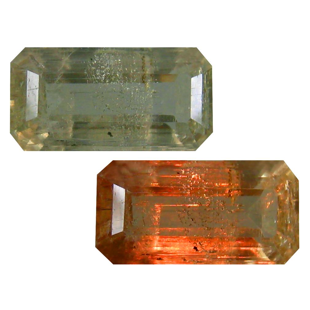 3.89 ct Octagon Cut (13 x 7 mm) Turkish Color Change Diaspore Natural Loose Gemstone