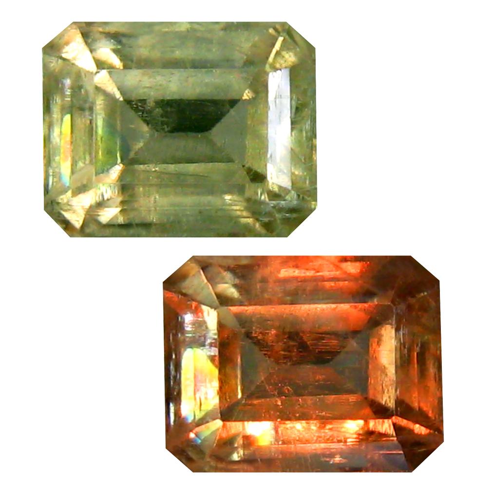 3.24 ct Octagon Cut (9 x 7 mm) Turkish Color Change Diaspore Natural Loose Gemstone