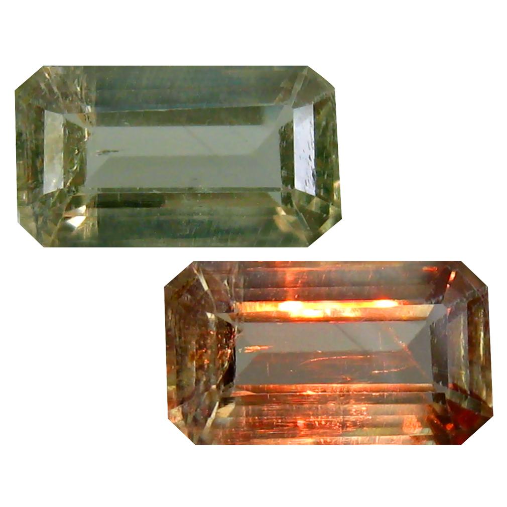 2.93 ct Octagon Cut (11 x 6 mm) Turkish Color Change Diaspore Natural Loose Gemstone