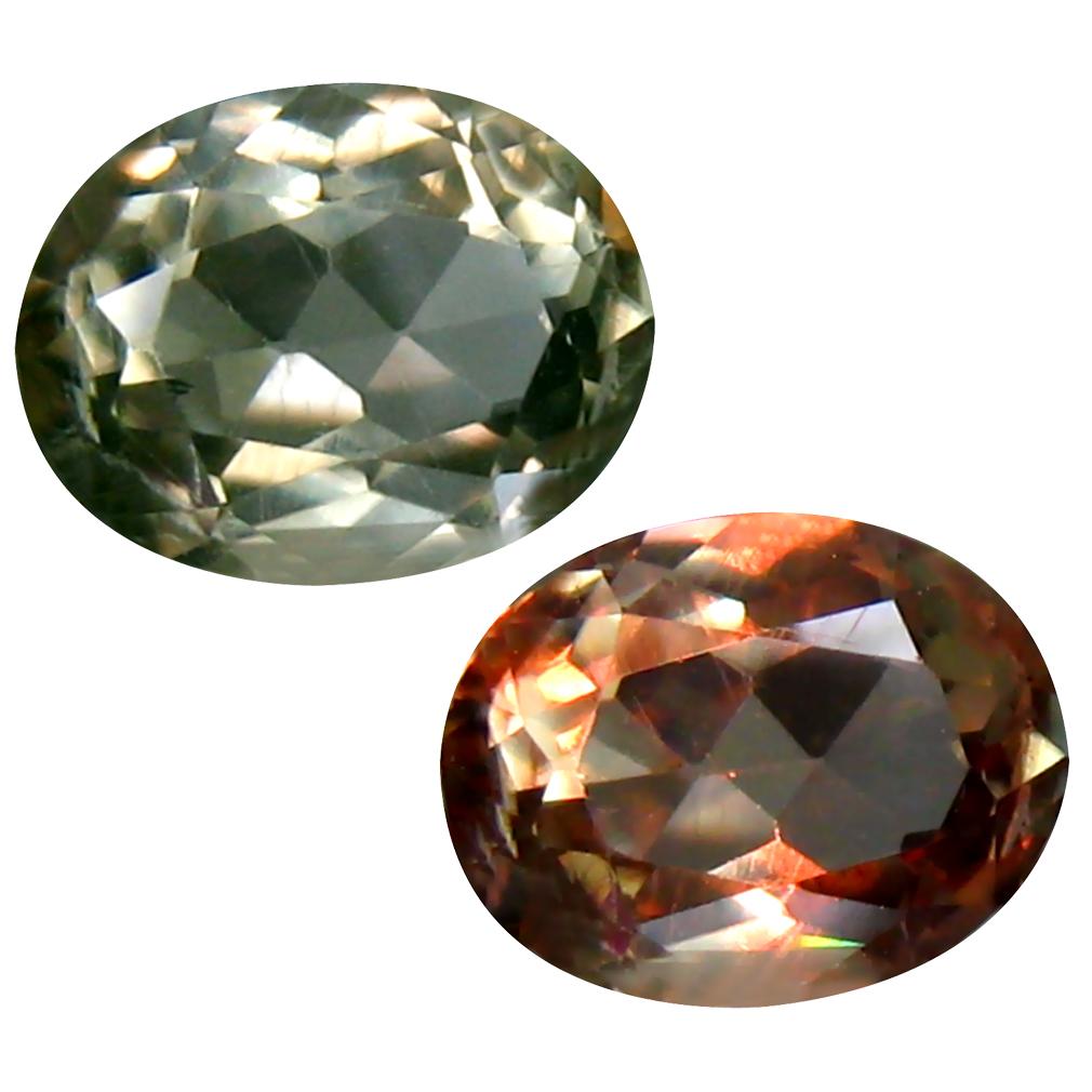 1.72 ct Oval Cut (8 x 7 mm) Turkish Color Change Diaspore Natural Loose Gemstone