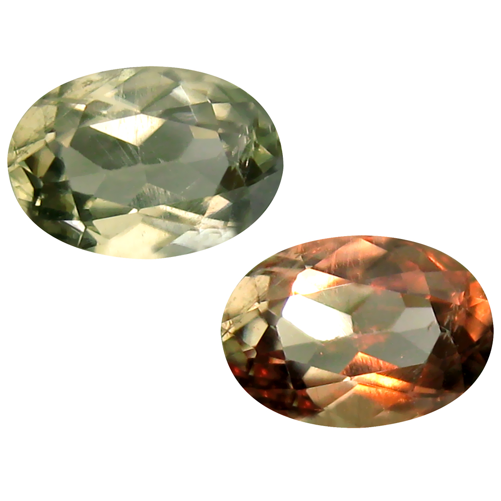 1.55 ct Oval Cut (9 x 6 mm) Turkish Color Change Diaspore Natural Loose Gemstone