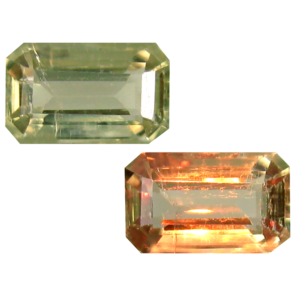 1.83 ct Octagon Cut (9 x 6 mm) Turkish Color Change Diaspore Natural Loose Gemstone