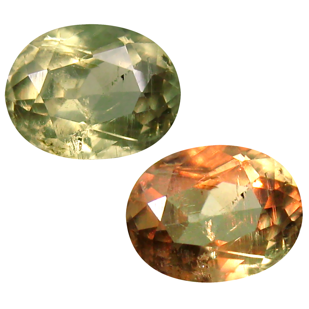 2.06 ct Oval Cut (9 x 7 mm) Turkish Color Change Diaspore Natural Loose Gemstone