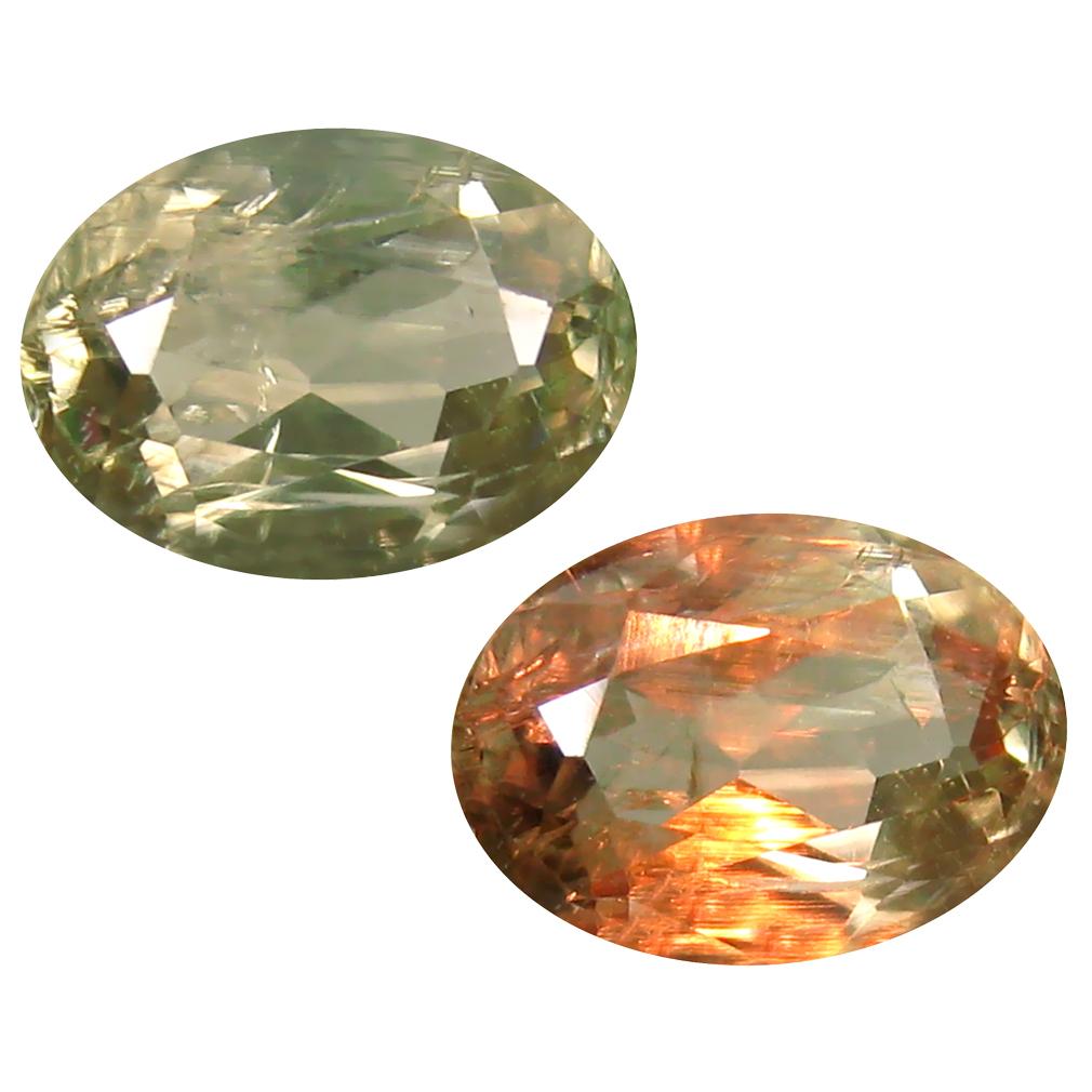 2.42 ct Oval Cut (10 x 7 mm) Turkish Color Change Diaspore Natural Loose Gemstone