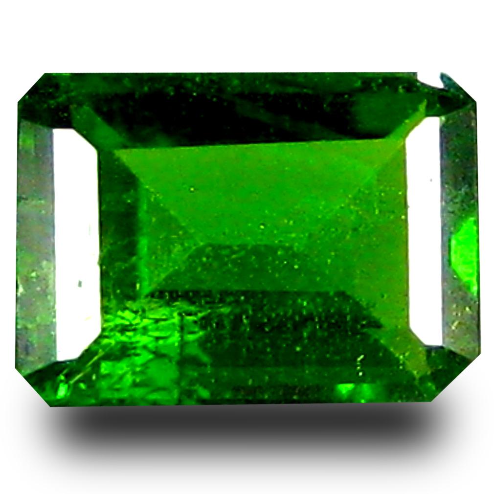 0.86 ct  Topnotch Cushion Shape (7 x 5 mm) Green Chrome Diopside Natural Gemstone
