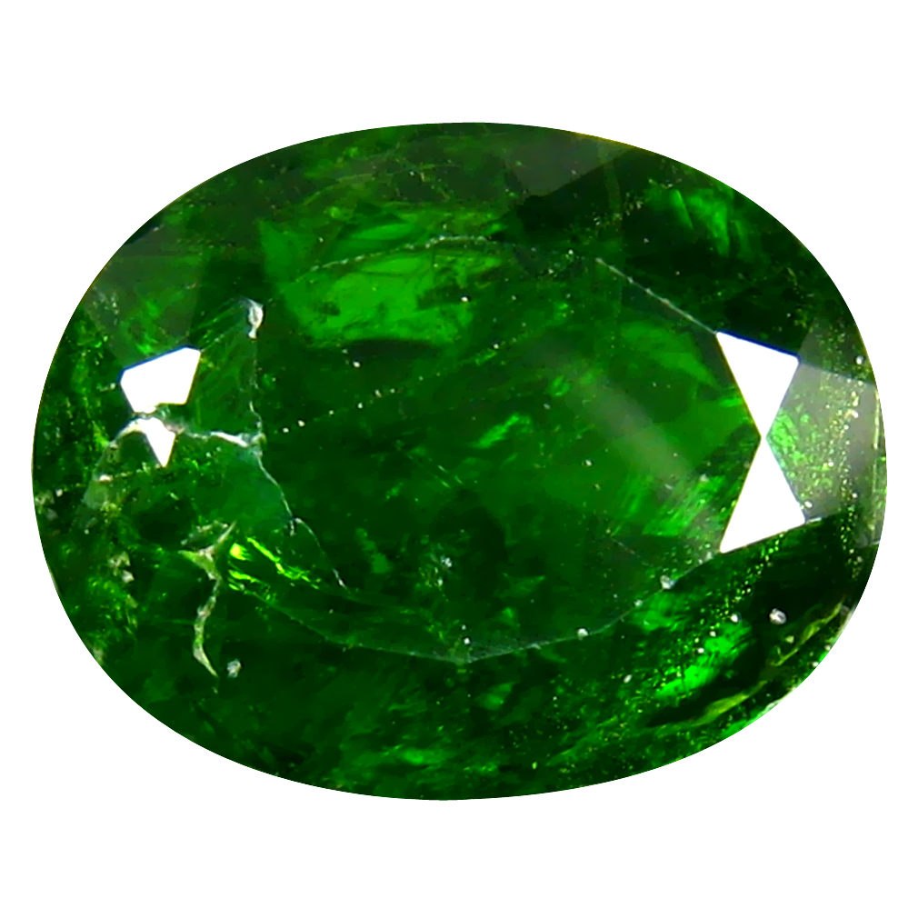 4.94 ct  Gorgeous Oval Shape (12 x 10 mm) Green Chrome Diopside Natural Gemstone