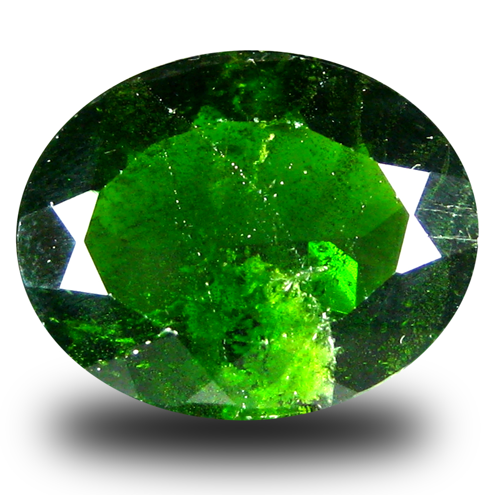 5.08 ct  Eye-opening Oval Shape (13 x 11 mm) Green Chrome Diopside Natural Gemstone