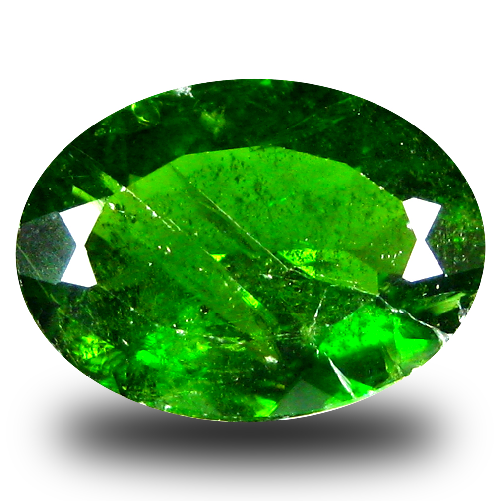 4.26 ct  Significant Oval Shape (13 x 9 mm) Green Chrome Diopside Natural Gemstone