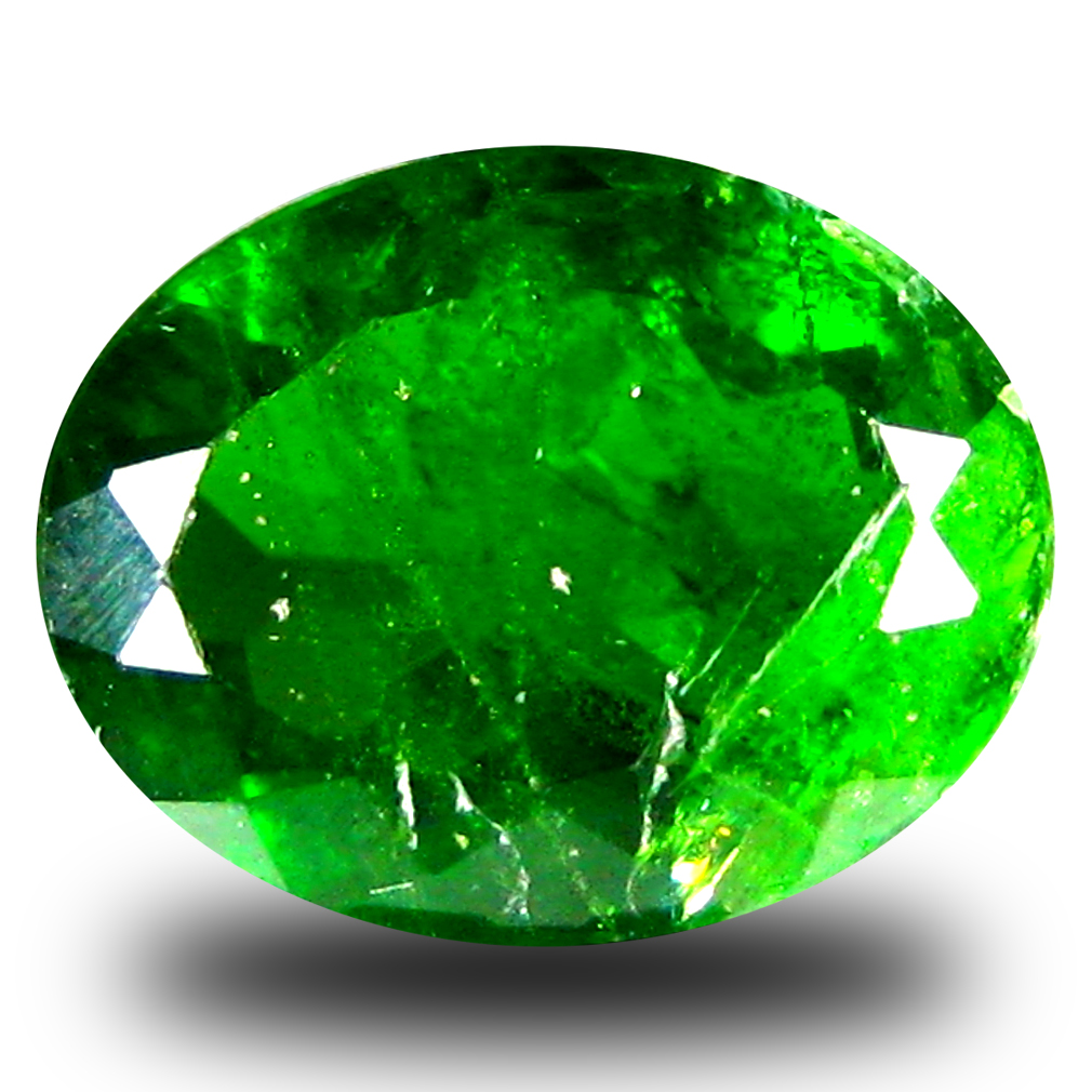 2.98 ct  Eye-popping Oval Shape (11 x 8 mm) Green Chrome Diopside Natural Gemstone