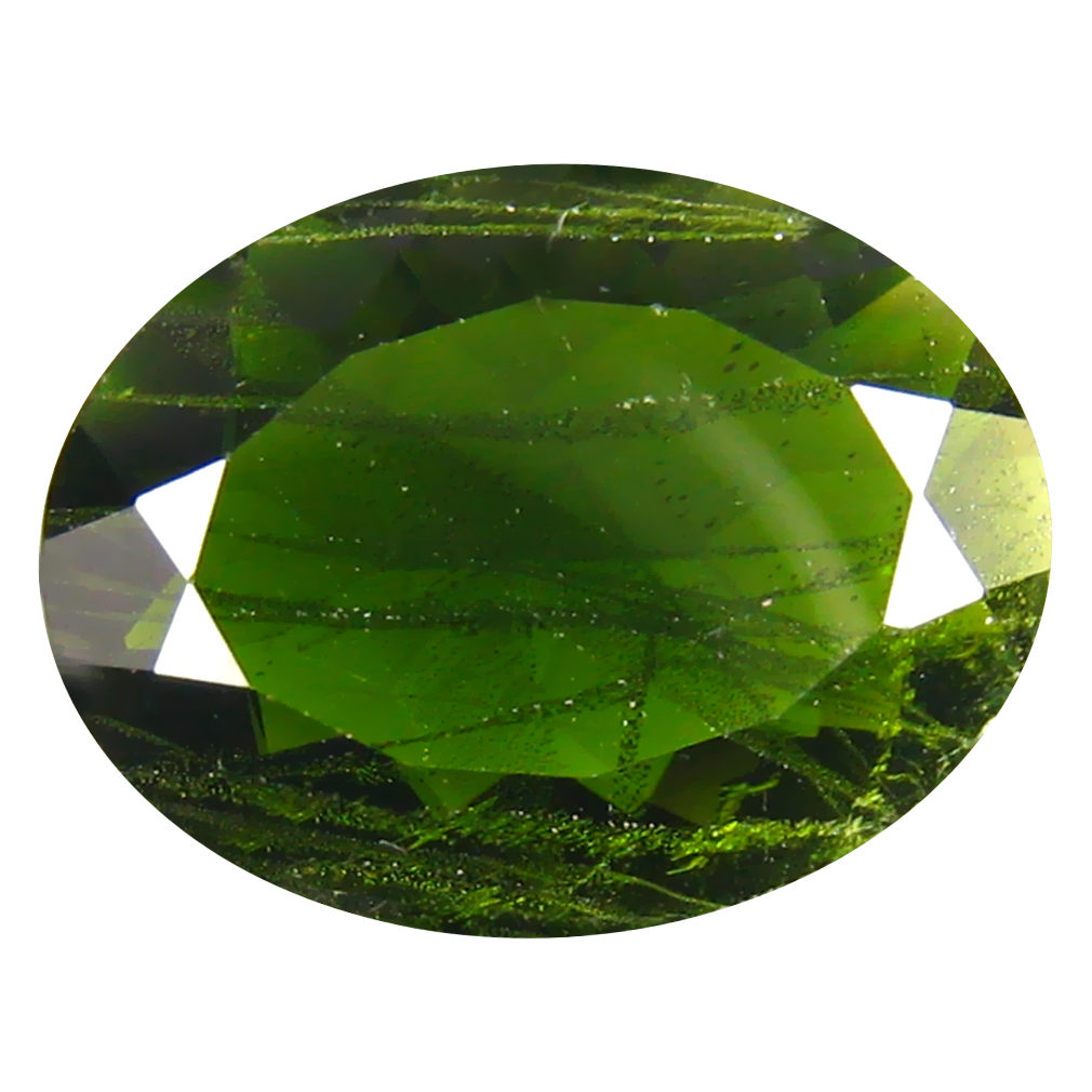 3.88 ct  Elegant Oval Shape (13 x 10 mm) Green Chrome Diopside Natural Gemstone