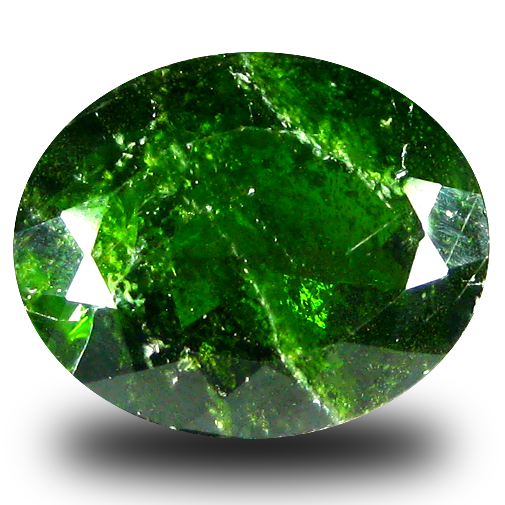 4.77 ct  Incomparable Oval Shape (12 x 10 mm) Green Chrome Diopside Natural Gemstone