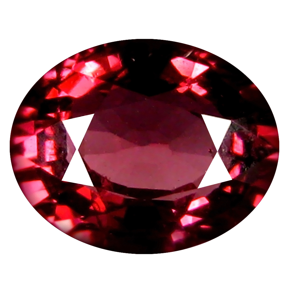 1.29 ct AAA+ Valuable Oval Shape (7 x 6 mm) Pinkish Red Rhodolite Garnet Natural Gemstone