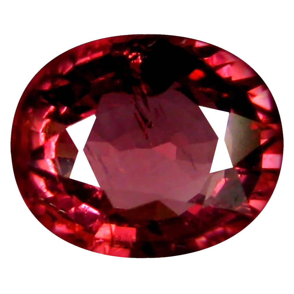 1.75 ct AAA+ Shimmering Oval Shape (8 x 6 mm) Pinkish Red Rhodolite Garnet Natural Gemstone