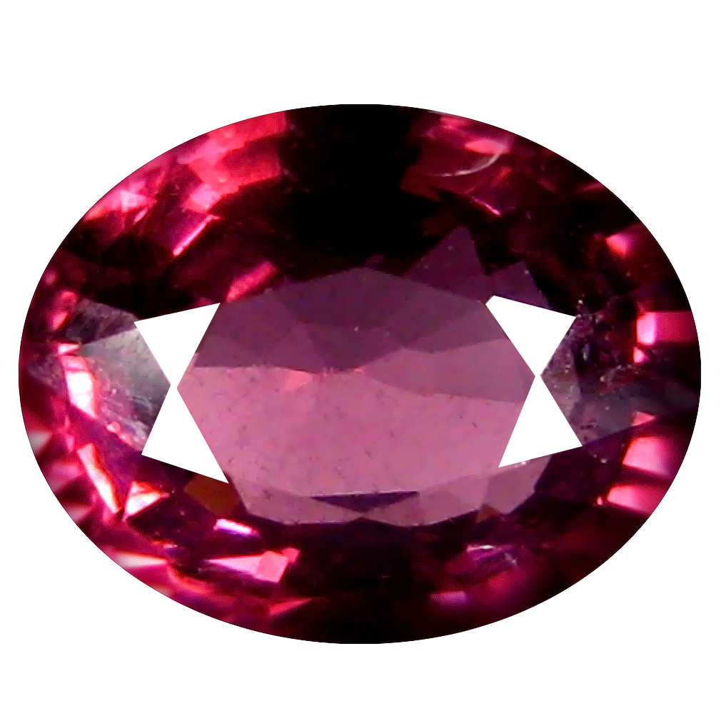 1.26 ct AAA+ Terrific Oval Shape (7 x 6 mm) Pinkish Red Rhodolite Garnet Natural Gemstone