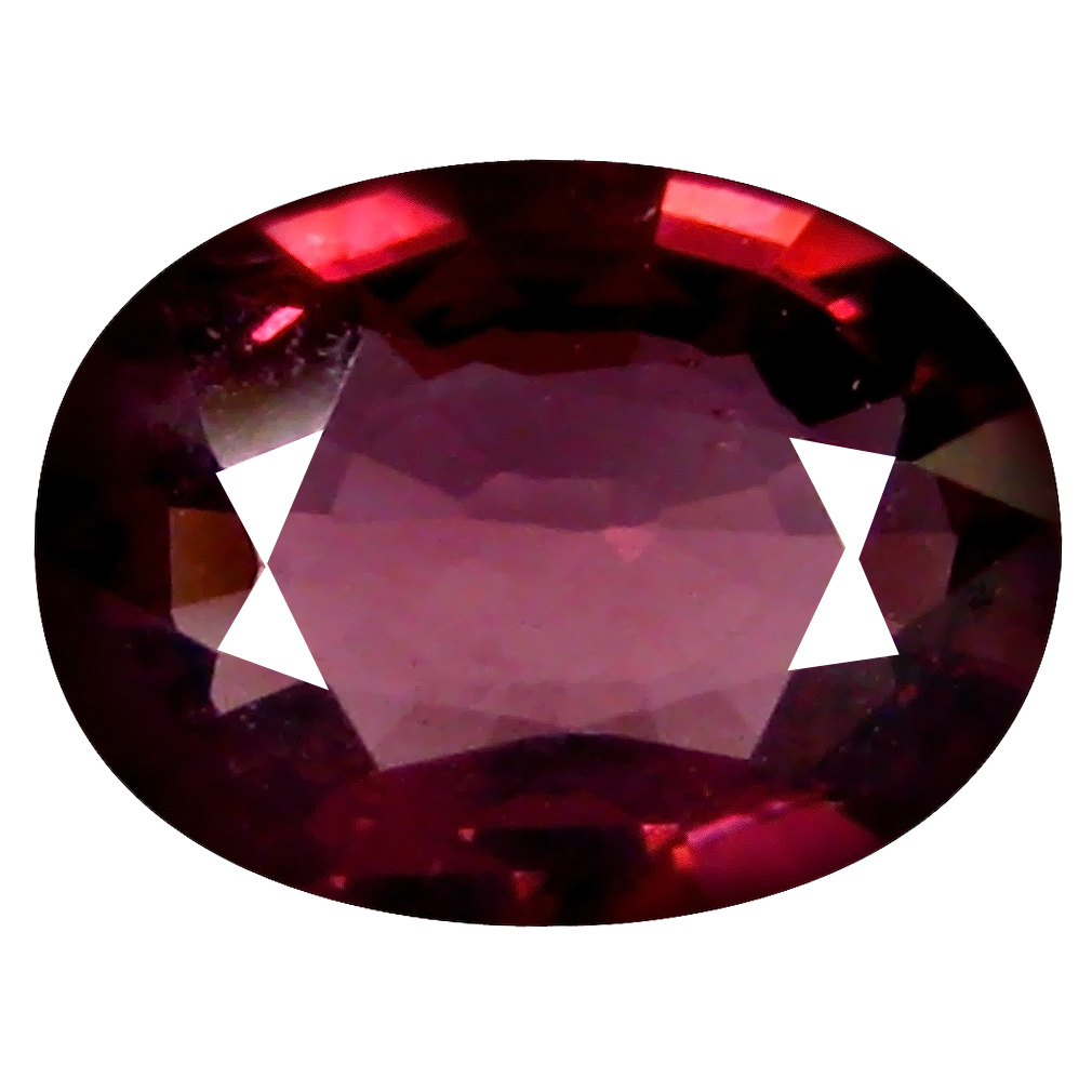 1.24 ct AAA+ Eye-popping Oval Shape (8 x 6 mm) Pinkish Red Rhodolite Garnet Natural Gemstone