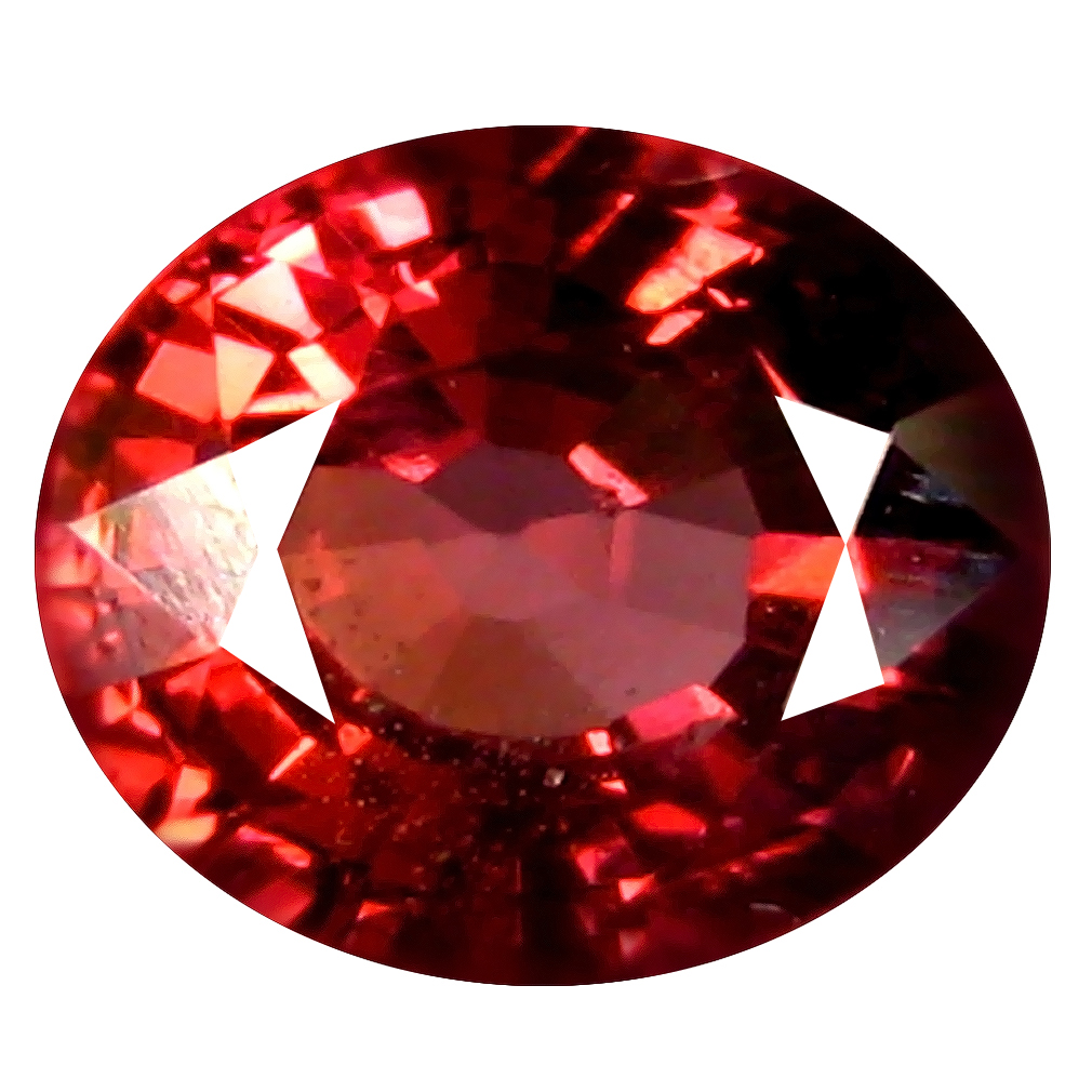 1.50 ct AAA+ Pretty Oval Shape (7 x 6 mm) Pinkish Red Rhodolite Garnet Natural Gemstone