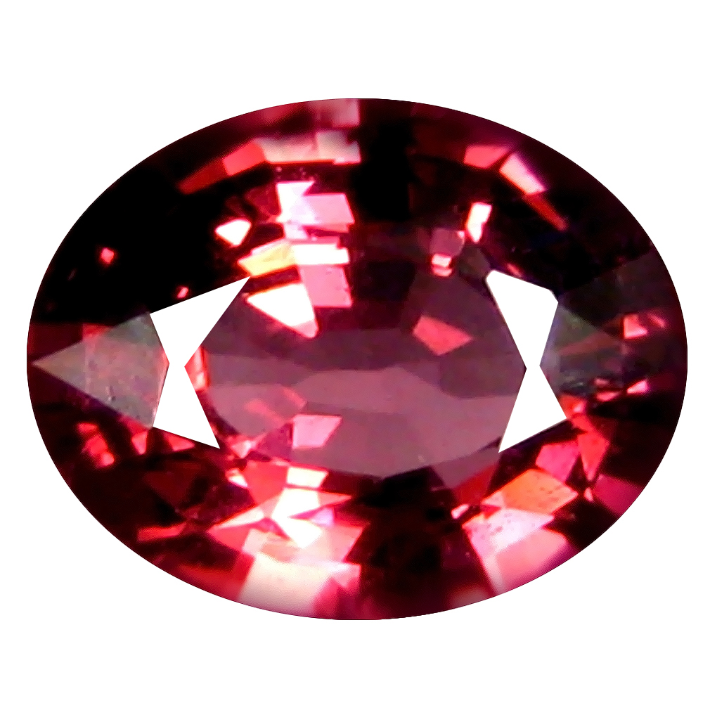 1.50 ct AAA+ Mesmerizing Oval Shape (8 x 6 mm) Pinkish Red Rhodolite Garnet Natural Gemstone